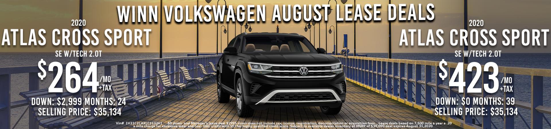 VW August Atlas Cross Sport Lease deals, Fremont, Milpitas, Union City, San Jose, Santa Clara, Stevens Creek, Sunnyvale, San Leandro , Hayward, Redwood City, Mountainview, , Bay area